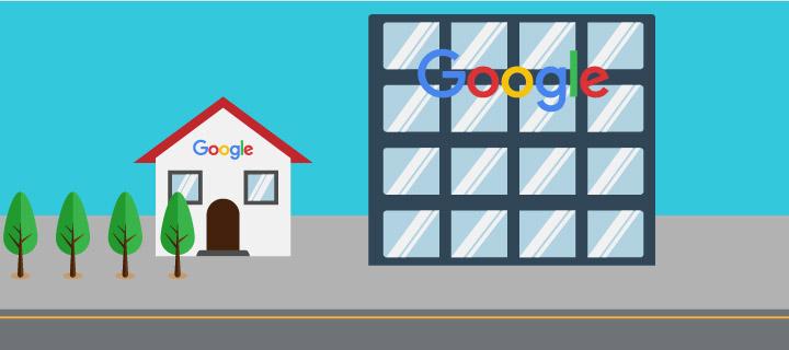 O Google também começou pequeno